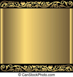 金黃 背景, 摘要, (vector)
