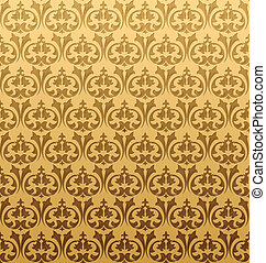 金, 矢量, pattern., seamless, 插圖