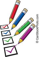 鉛筆, 矢量, 清單