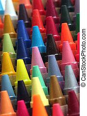 鉛筆, 行, 藝術, 鮮艷, attractively, 蜡, 令人頭暈目眩, 孩子, 顏色, 粉筆, 其他人, 安排, 打翻, 顯示, 專欄, 做