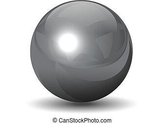 鉻, 球, 矢量, 金屬