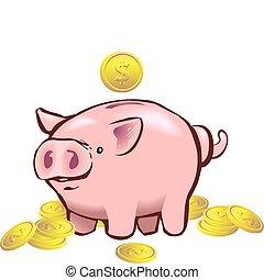 銀行, 小豬, moneybox