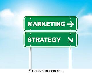 銷售, 戰略, 3d, 路標
