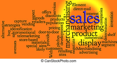 銷售, 詞, 銷售, 雲