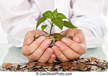 錢, 好, 概念, 投資, 做