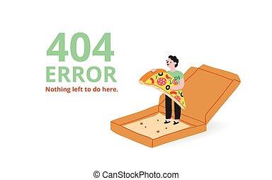 錯誤, 頁, 比薩餅
