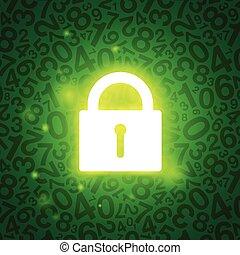 鎖, 發光, 綠色