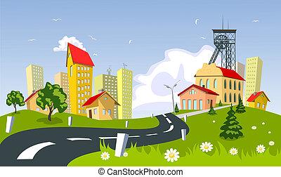鎮, 採礦