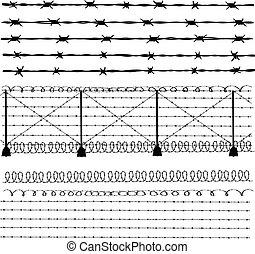 鐵絲網, -, 柵欄