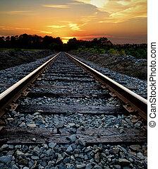 鐵路, 傍晚