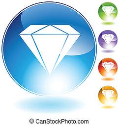 鑽石, 寶石, 圖象, 水晶