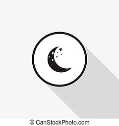 長, 月亮, 矢量, 背景, 陰影, 圖象