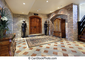 門廳, 地下室, 區域