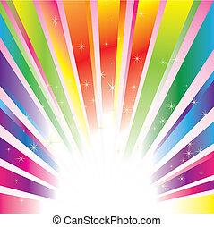閃耀, 星, 鮮艷, 背景, 爆發