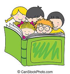 閱讀, 孩子, 書