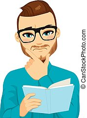 閱讀, 集中, 書, 人