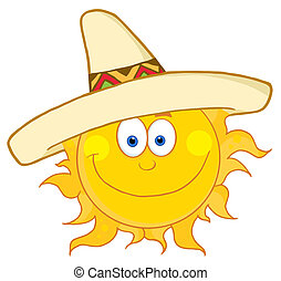 闊邊帽, 愉快, 穿, 太陽