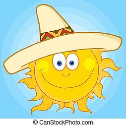 闊邊帽, 穿, 太陽
