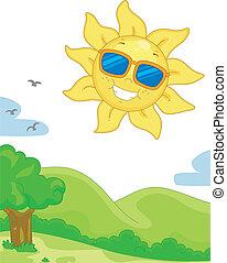 陽光充足的日