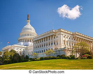 陽光充足的日, 美國美國國會大廈