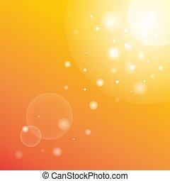 陽光普照, 摘要, 旗幟, 光線, 夏天, 背景。, sunbeams., 明亮, 鮮艷, 樣板, 現代, 天空, bokeh, 橙, 矢量, 美麗, illustration., 太陽, 圖片, sunburst