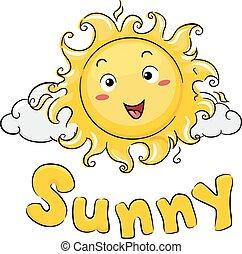 陽光普照, 雲, 插圖, 吉祥人