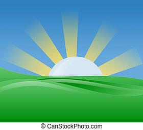 陽光, 插圖, 早晨