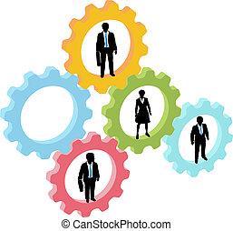 隊, 技術, 齒輪, 商業界人士