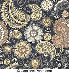 雅致, 佩斯利螺旋花紋呢, seamless, 圖案