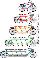 集合, 串聯的自行車, 矢量
