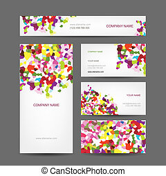 集合, 事務, 摘要, 創造性, 設計, 卡片