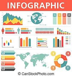 集合, 人口統計學, infographics