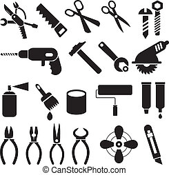 集合, 圖象, 工作, -, 矢量, 工具