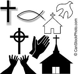 集合, 基督教徒, 圖象, 符號, 其他, 教堂
