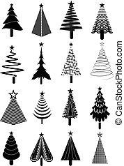 集合, 樹, 聖誕節, 圖象