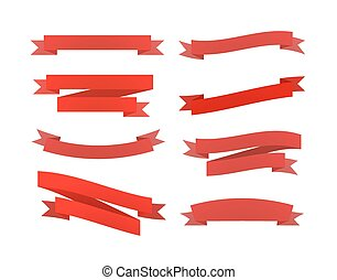 集合, 被隔离, retro, 白色, 帶子, 紅色