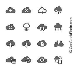 集合, 計算, 簡單, 相關, 雲, 圖象