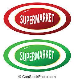 集合, 超級市場, 圖象