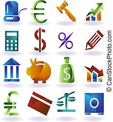 集合, 顏色, 圖象, 銀行業務