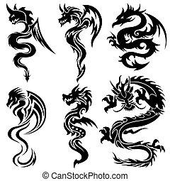 集合, 龍, 漢語, 部落