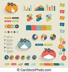 集合, elements., infographics