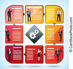 雇員, 表達, 圖表, 事務
