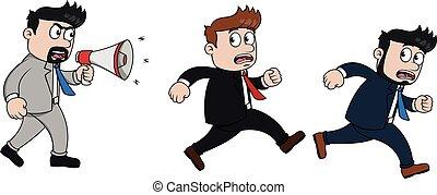 雇員, 跑, because, 憤怒, 老板