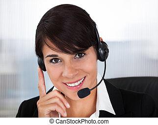 雇員, callcenter, 耳機