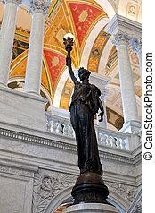 雕像, 圖書館, 華盛頓特區, 國會