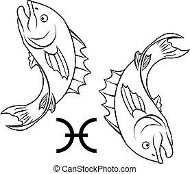 雙魚宮, 黃道帶, 簽署, 星象, 占星術
