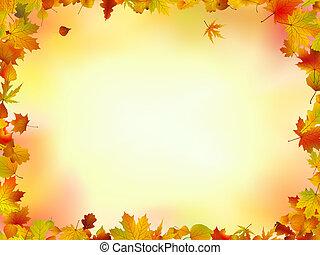 離開, 框架, 秋天