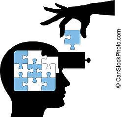 難題, 人, 學習, 頭腦, 解決, 教育