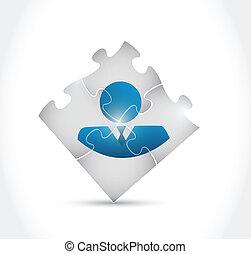 難題, 設計, avatar, 插圖, 片斷