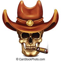 雪茄, 帽子, 頭骨, 牛仔